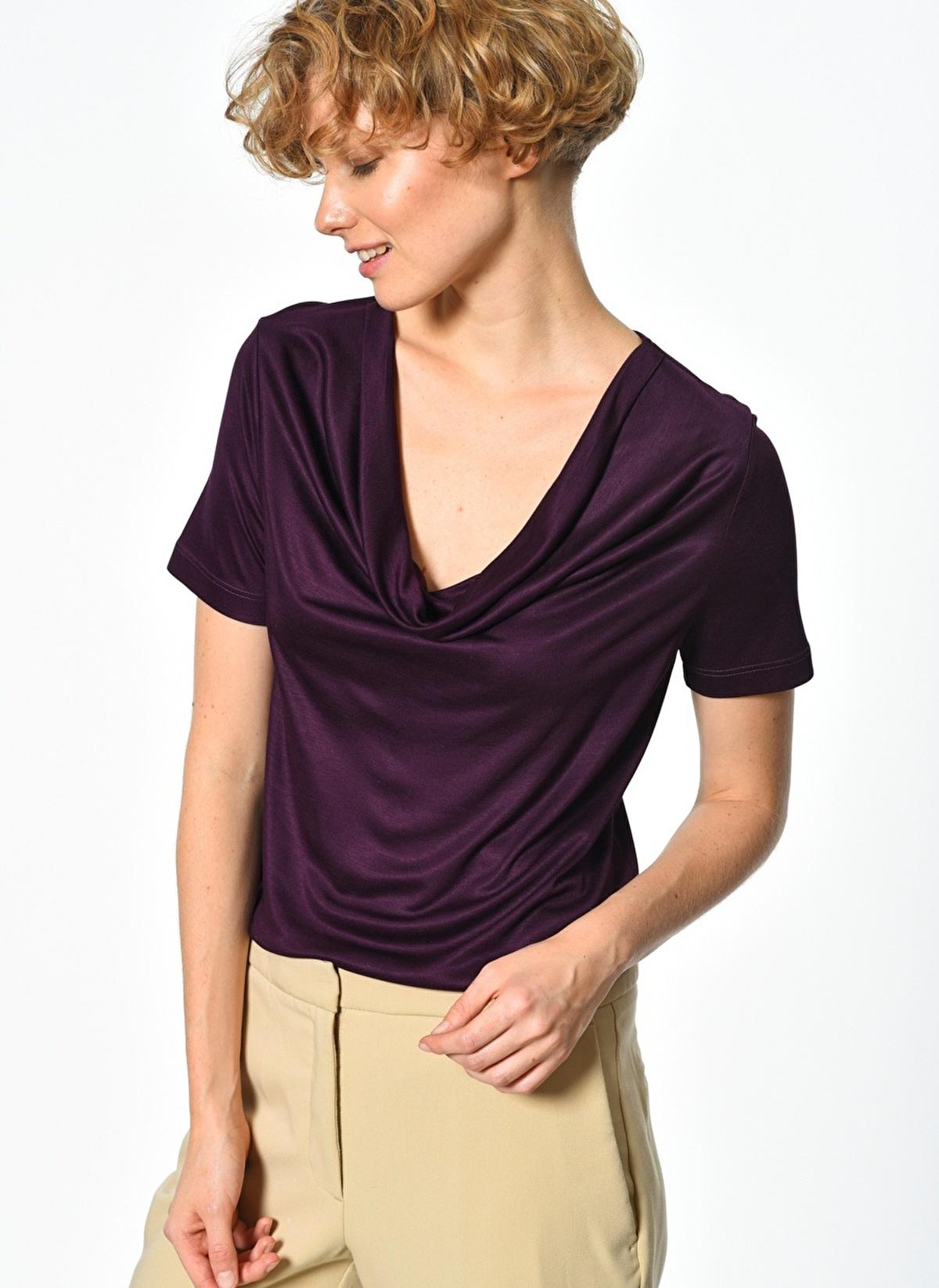 Fabrika Degaje Yaka Tişört 520309526 K T-shirt – 19.99 TL